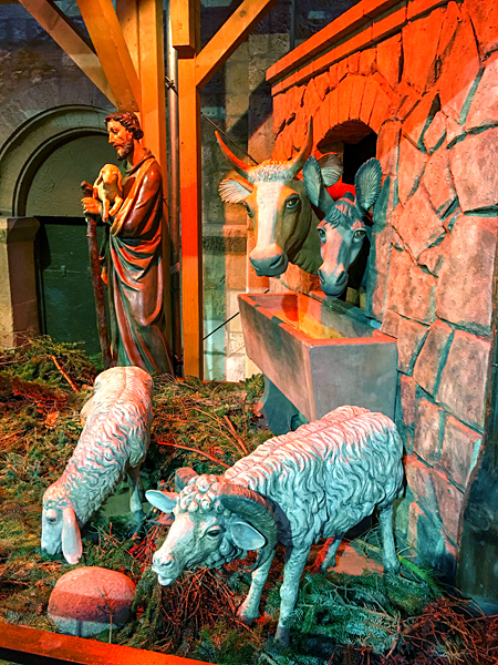 Weihnachtskrippe Kühe Esel Hirte Schafe Weihnachten Dom Mainz