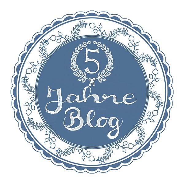 5 Jahre Blog Siegel Stempel Jubiläum Handlettering Emblem