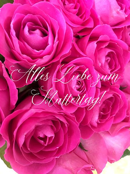 Rosa Rosen Muttertagsgrüße Alles Liebe pink