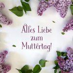 Muttertag Flieder Blumen Muttertagsgrüße Grußkarte Liebe