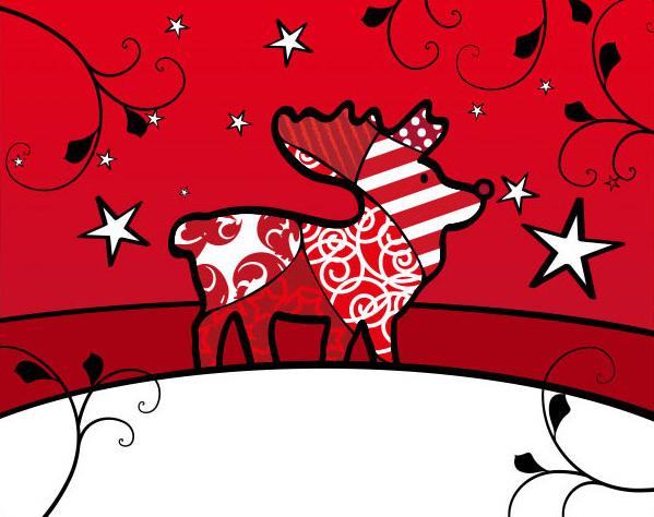 Weihnachten Rentier Illustration Reindeer